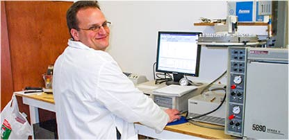 image of researcher in the lab