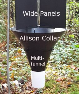 image of Synergy Semiochemicals multitrap panel trap and Allison collar